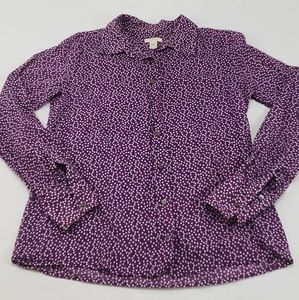 🔥J.Crew Cotton Purple Polka Dot Button Down Shirt